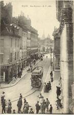 DIJON rue rameau tramway pub oxygenée cusenier