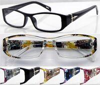 L434 Superb Quality Reading Glasses & Metal Hinges & Flower Arms & Super Fashion