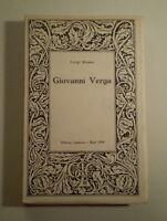 C189 GIOVANNI VERGA LUIGI RUSSO EDITORI LATERZA BARI 1959