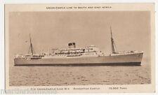 Union Castle Line, M.V. Dunnottar Castle, Shipping Postcard, B521