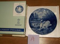 """A)KAISER W. GERMANY """"MOTHER'S DAY 1976"""" PORCELAIN PLATE IN BOX! 7 5/8""""DIAM"""