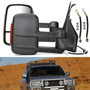 ADVENTURE TOWING EXTENDABLE MIRROR FOR TOYOTA LANDCRUISER 200 SERIES 12- BLK AU