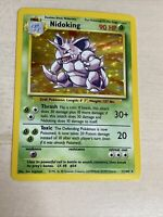Nidoking 11/102 Base Set Holo Foil Rare Vintage 1999 Pokemon Card Near Mint