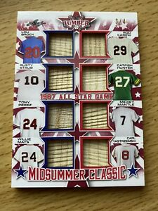 2021 Leaf Lumber Midsummer Classic 1967 AS Game - Mantle Mays Yaz - LE 3/4 RARE