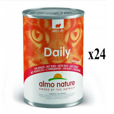 More details for almo nature daily grain free wet cat tin beef balanced complete food 24 x 400g