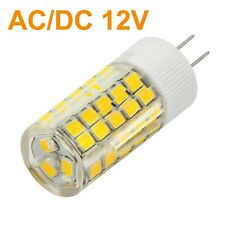 10pcs Lampada lampadina LED G4 6W 63 led smd luce calda 500lm 12V ac/dc resa 50w