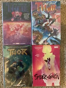 NEW Graphic Novel Lot Hardcover Mighty Thor Aaron Deluxe Vol2 3 4 Spider-Gwen HC