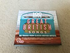 Various - 100 Hits: Great British Songs (2017)  5CD Box Set like new