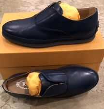 $695 New Tods Mens Blue Slip On Shoes Size 9 US 8 UK 42 EU