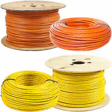 CAT.7 Verlegekabel Netzwerkkabel Installationskabel orange / gelb  10m - 1000m