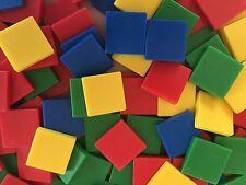 "Math Counting Tiles Manipulatives 310pcs 1"" Squares 4 Colors"