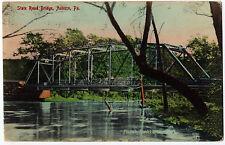 1908 Auburn PA State Road Bridge Hand Color Photo Frank L Brown RARE DB Postcard