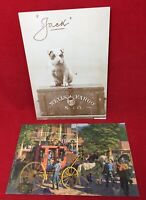 2 VTG Wells Fargo Postcards JACK On WF Treasure Box & Concord Coach unposted