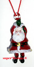 Dept. 56 Pewter Ornament Tiny Trimmings Santa with Candy Cane 88701 New
