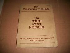 1969 OLDSMOBILE NEW PRODUCT SERVICE INFORMATION F-85 CUTLASS 442 DELTA 88