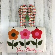 Vera Bradley Folkloric Large Beach Towel Matching Flip Flops Lot Size L 9 10 Nwt