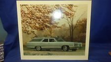 Original Pontiac Dealer Showroom Cardboard Poster 1966 BONNEVILLE 3 Seat Wagon
