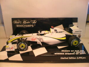 WOW RARE MINICHAMPS 1/43 BRAWN J.BUTTON WINNER SPANISH GP 2009 ONLY 3096 PCS NLA
