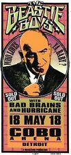 Beastie Boys Concert Handbill Flyer-Arminski Silkscreen-Bad Brains-Kojak-Detroit