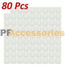 80 Pcs White Self Adhesive Plastic Square Hook Small Wall Mount Hanger Bathroom