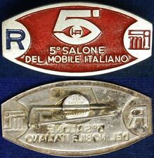 Spilla Badge 5° Salone del Mobile Italiano con smalti #C317