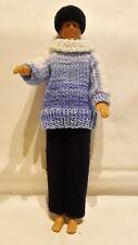 Puppenkleidung passend für Barbiepuppe KEN Hose,Pullover,Käppi Handarbeit 6307