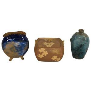 Lot Of Three Rookwood Pottery 1980s Limoges Vase Box Jug