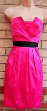 DOROTHY PERKINS STRAPPY PINK FUCHSIA SATIN PENCIL TULIP PARTY ELEGANT DRESS XL