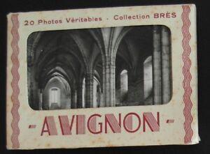 Carnet de 20 mini-photos d'AVIGNON - Collection Brès