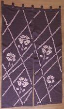 Japanese Noren Door Curtain [ SHIBORI PATTERN F - 3 ] 85x150cm Made in Japan