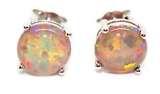 Silver Orange Fire Opal 3.59ct Earring