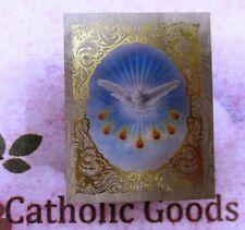 "2"" x 2 1/2"" Wooden Gold Embossed - Felt Lined - Holy Spirit Rosary Keepsake Box."