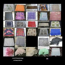 foulards écharpes pochettes vintage CURIOSITY by PN