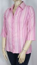 Millers 3/4 Sleeve Button Down Shirt Regular Tops & Blouses for Women