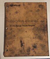 Caterpillar OEM 3116 (7SF) Diesel Truck Engine Service Manual. Cat Original.