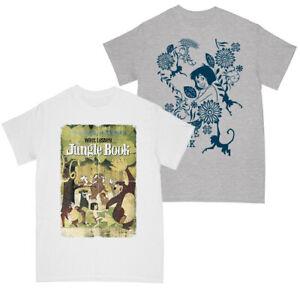 The Jungle Book Girls Retro Poster - Mowgli Tale T-shirt Multi Pack of 2 7-8