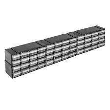 48 transparente Schubladen in Regaleinheit Kleinteilemagazin endlos Modul Lager
