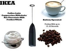 Ikea Product Egg Milk Coffee Frother Foamer Whipp Late Black Cordless Mixer
