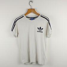 Vintage ADIDAS ORIGINALS White Europa T Shirt Tee | Retro Trefoil | Medium M