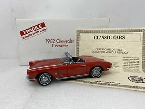 1/24 Danbury Mint 1962 Chevrolet Corvette Red