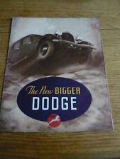 Dodge 1934 grandes, car brochure