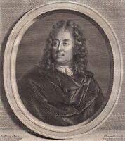 Portrait XVIIIe Chaulieu Guillaume Amfrye  Abbé De Chaulieu Poète Libertin 1786