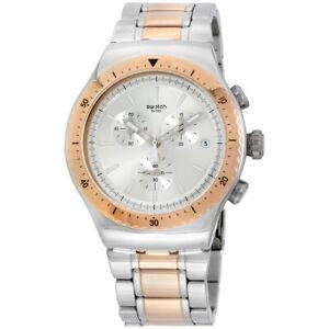 Swatch Irony Quartz Movement Silver Dial Men's Watch YOS452G