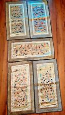 5 Pcs Antique Chinese Silk Hand Embroidered Wall Hanging 100 Children Tapestry