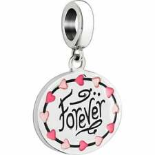 "💞 CHAMILIA HEART STRINGS ""FOREVER"" - STERLING SILVER CHARM 2020-0853"