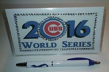 Chicago Cubs World Series 2016 Custom Checkbook Cover With Free Awareness Pen