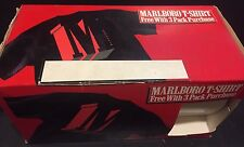 MARLBORO Cigarettes with Large M LOGO Black & RED New Sealed In BOX Rare NOS