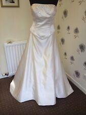 Pale Gold D'zage Wedding Dress Size 14