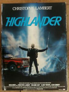 Poster Highlander Russell Mulcahy Christophe Lambert 15 11/16x23 5/8in