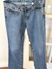 New Bettina Liano Designer Jeans -  Distressed Boot cut Navy Denim -Size 32